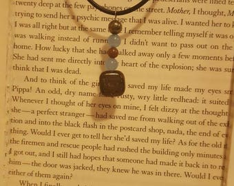 Stone & glass bead necklace