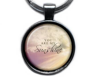 You Are My Sunshine Keychain Keyring
