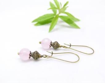 Boho earrings ~ Rose petals ~