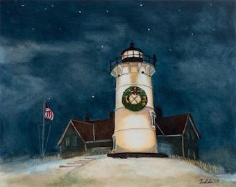 Nobska Lighthouse at Christmas