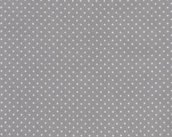 Au maison oilcloth dots grey grey dots coated cotton