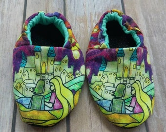 Baby& Toddler Shoes: Floating Lanterns. Reversible Soft Sole