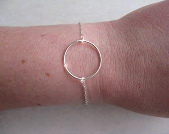 CIRCLE ring - 925 sterling silver bracelet