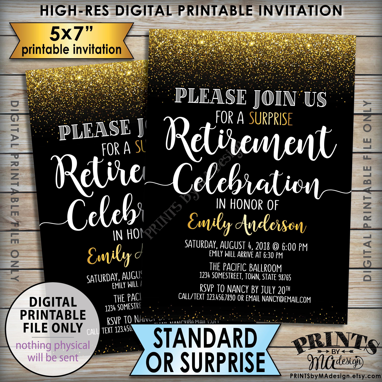 Retirement Party Invitation, Retirement Celebration Invite ...