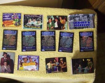 50 1996 Assorted Abbott & Costello Collector Cards Made by DuoCards