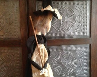 Primitive Hanging Witch Doll