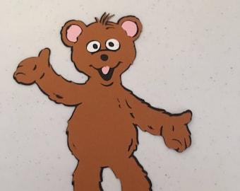 Baby Bear die cut from Sesame Street
