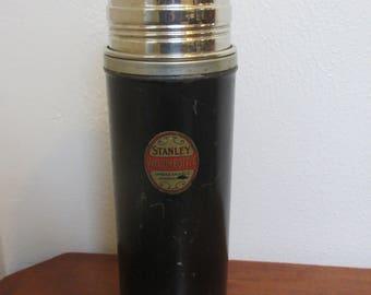 Vtg. Stanley Vacuum Bottle Ferrostat Colbalt Insulated Stainless Steel Thermos