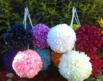 "7.5"" Mum Pomander Kissing Ball *U-Pick color* Great for Pew Bows or as a Flower Girl Bouquet"