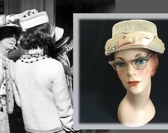 Copper Metal Vintage Retro Cats Eye Woman's Eyeglasses, Circa 1960s