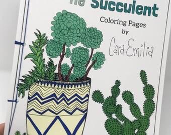 Color Me Succulent Coloring Pages, Adult Coloring Book