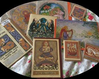 Collection Lot Set Bundle of 9 Celtic Cards Book of Kells Glastonbury BNIP Eire Ireland Mythology