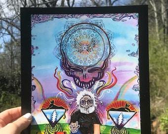Grateful Dead Art Print- Jerry Garcia- Deadhead Art