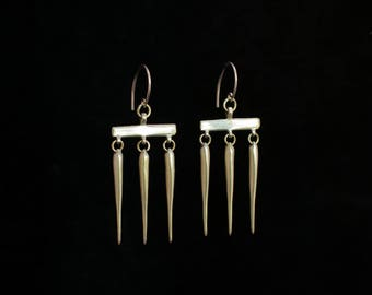 ZILPA earrings : modern brass earrings