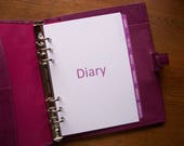 A5 Size SUBJECT DIVIDERS  Fuchsia 710  Fits Filofax