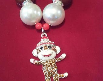 boutique jewelry, glitzy sockmonkey, birthday gift, beads, pendant, girls, ladies, sparkly