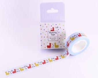 masking tape / washi tape (funny alpaca) WT0203