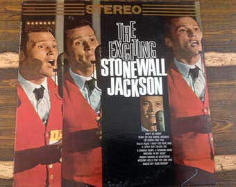 The Exciting Stonewall Jackson Vintage Vinyl Record LP 1966