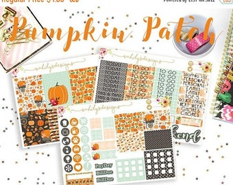 50% OFF Pumpkin Patch Week Set // Erin Condren // The Happy Planner // Sticker Kit // Summer stickers// Spring  Stickers // sticker week s