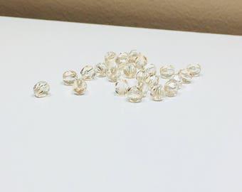 25 Crystal Velvet Fire Polished Czech Bead, 6 mm Czech Round Beads, Supplies, Jewelry Supplies, Jewelry Making, Craft Supplies