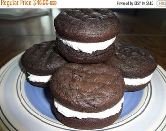 ON SALE: Soft & Creamy Homemade Dark Chocolate Whoopie Pies (30 Cookies)
