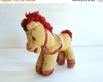 ON SALE Vintage stuffed horse toy 1950s 1960s