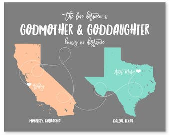 Godmother Gift for Godmother Christmas Gift for Godmother Gift for Godfather Gift for Godson Gift for Goddaughter Gifts Personalized Gift