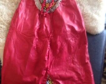 HANDMADE LEATHER DRESS