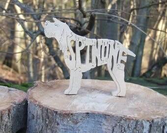 Spinone Italiano, Spinone gift, Spinone ornament, Spinone memorial, unique wooden gift, dog lover gift, dog breed gift,  dog owner gift
