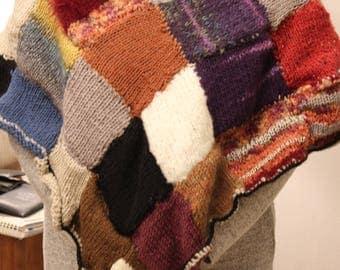 Poncho woman wool