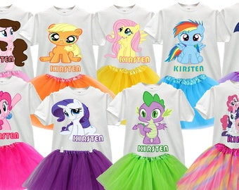 My Little Pony Superheroes Barbie Little Mermaid Disney Princess Choose your Character Personalized T-shirts