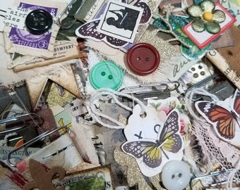 Altered Paperclips for junk journaling