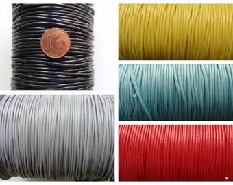 FIL 1,5mm mélange coton polyester par 2 mètres cordon Couleur au choix