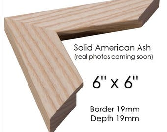 6x6 Wooden photo frames - 6 x 6 - square ash picture frames