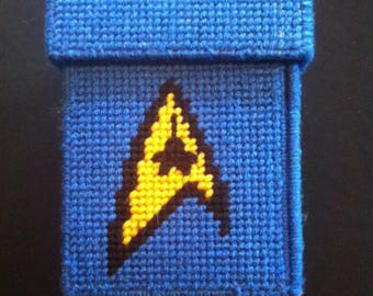 Star trek blue quick fix cosplay sewing kit - fold up travel sewing box - convention emergency kit - nerdy accessory - geekery - storage box