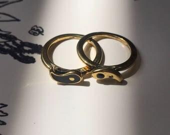 Ying Yang Ring Set of 2