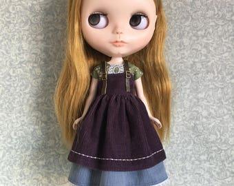 Blythe dress and pinafore set