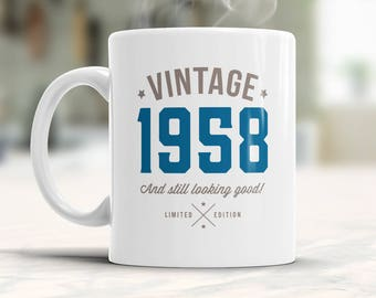 60th Birthday, 1958 Birthday, 60th Birthday Gift, 60th Birthday Idea, Vintage, Happy Birthday, 60th Birthday Present for 60 year old