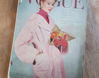 Vtg original 1950s vogue magazine