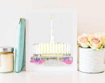Printable, Provo Temple Instant Download, Provo Temple Print, Provo Temple Printable, Provo Temple Wall Art, LDS Prints, Provo Temple, Gift