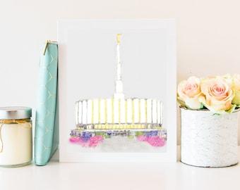Provo Temple, Provo LDS Temple, LDS Provo Temple, Provo Temple Art, Provo Temple Print, Provo Temple Wall Art, Temple Wall Art, Provo, Utah