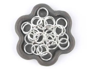 x 100 jump rings silver 9mm (15)