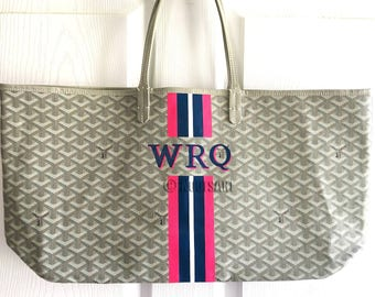 Personalized Monogrammed Goyard Tote...Customer provide the bag!
