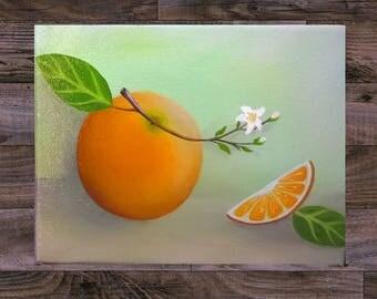 Citrus Orange Still Life Oil Painting