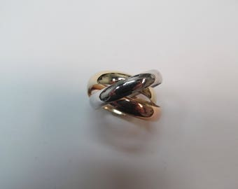 1980's Style 14K Tri-Colored Rolling Rings
