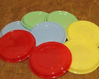 Vintage Rotary International Plastic Drink Coasters