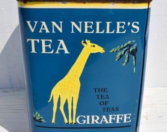 Van Nelle's Vintage Thee Blik Tea Tin Container