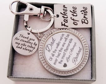 Father of the Bride of all the Walks Keychain personalized father of the bride gift brides father gift wedding gift for father of the bride
