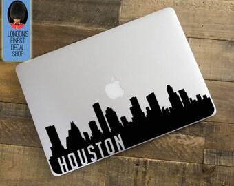 Houston City Skyline Macbook / Laptop Decal