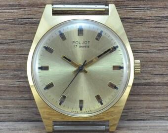 140 Mens RARE Vintage Soviet USSR Russian watch POLJOT 17 Jewels serviced
